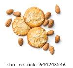 sweet almond cookies isolated...   Shutterstock . vector #644248546