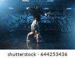 breakdance motions  performer... | Shutterstock . vector #644253436