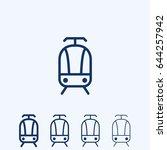 tram line icon | Shutterstock .eps vector #644257942
