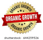 organic growth round isolated... | Shutterstock .eps vector #644259526