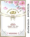 Wedding Invitation With Flower...