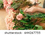 flowers delivery  creating... | Shutterstock . vector #644267755