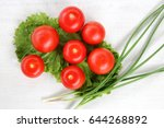 tomato still life  tomato on... | Shutterstock . vector #644268892