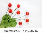 tomato still life  tomato on... | Shutterstock . vector #644268916