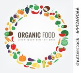 organic food. fruits and...   Shutterstock .eps vector #644269066