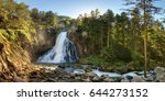austria waterfall panorama in... | Shutterstock . vector #644273152
