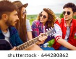 group of friends enjoying party.... | Shutterstock . vector #644280862