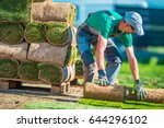natural grass turf professional ... | Shutterstock . vector #644296102