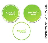 naturally 100 percent. a set of ...   Shutterstock .eps vector #644297986