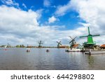 dutch village zaanse schans ... | Shutterstock . vector #644298802