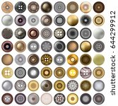 various sewing buttons isolated ... | Shutterstock .eps vector #644299912