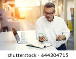 experienced architect 50 years... | Shutterstock . vector #644304715