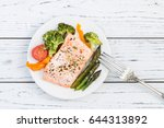 Baked Salmon Fillet With Peppe...