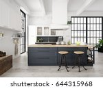 3d rendering of modern kitchen... | Shutterstock . vector #644315968