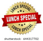 lunch special round isolated... | Shutterstock .eps vector #644317702