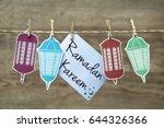 ramadan kareem greeting card or ... | Shutterstock . vector #644326366