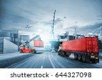 logistics import export... | Shutterstock . vector #644327098