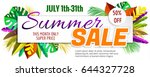 summer sale poster with... | Shutterstock .eps vector #644327728