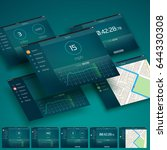 tablet ui design concept with...