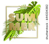summer time inscription with...   Shutterstock .eps vector #644334382