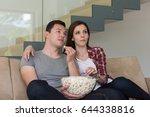young handsome couple enjoying... | Shutterstock . vector #644338816