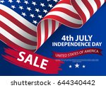 fourth of july independence day ... | Shutterstock .eps vector #644340442