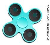 hand spinner. fidget toy for... | Shutterstock .eps vector #644348932