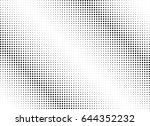 abstract halftone dotted...   Shutterstock .eps vector #644352232