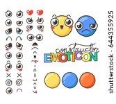 constructor of cute lovely...   Shutterstock . vector #644355925