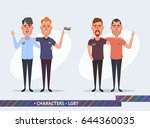 funny cartoon characters   gay... | Shutterstock .eps vector #644360035