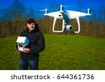 run the drone. launch of the... | Shutterstock . vector #644361736