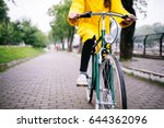 ride in the rain. cropped shot...   Shutterstock . vector #644362096