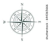 compass. wind rose. vector... | Shutterstock .eps vector #644365666