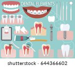 dental elements mega set  | Shutterstock .eps vector #644366602