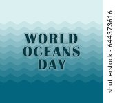 world oceans day concept wave... | Shutterstock .eps vector #644373616
