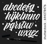vector alphabet. lettering and... | Shutterstock .eps vector #644378476