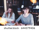 startup workplace. group of... | Shutterstock . vector #644379406