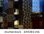 business district with... | Shutterstock . vector #644381146