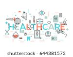 healthcare  medicine  medical... | Shutterstock .eps vector #644381572