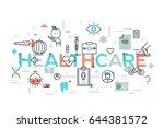 healthcare  medicine  medical... | Shutterstock .eps vector #644381572