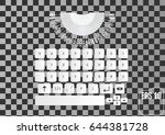 modern realistic keyboard for...
