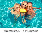 happy family having fun on... | Shutterstock . vector #644382682