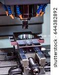 metalworking cnc milling...   Shutterstock . vector #644382892