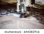 cnc water jet cutting machine... | Shutterstock . vector #644382916
