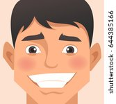 male cartoon portrait | Shutterstock .eps vector #644385166