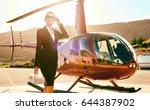 elegant business woman near the ...   Shutterstock . vector #644387902