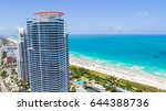 aerial view of south beach.... | Shutterstock . vector #644388736