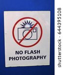no flash photography sign   Shutterstock . vector #644395108