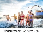 Group Of Friends Splashing...