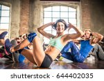 multi ethnic group of people... | Shutterstock . vector #644402035